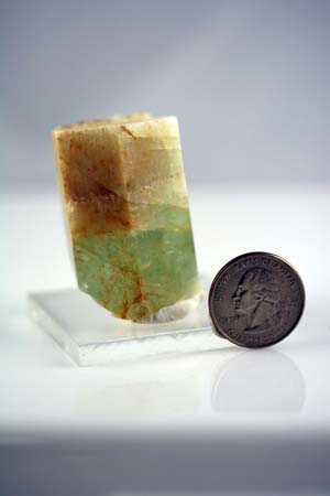 "1.25"" X 1.88"" tall Heliodor crystal,  2009, Tripp Mine"