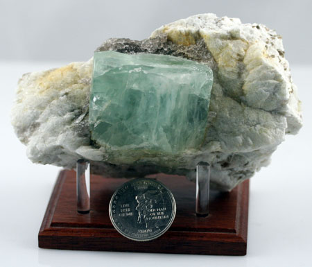"BERYL CRYSTAL IN MATRIX,1.62"" X 1.38"" TALL"